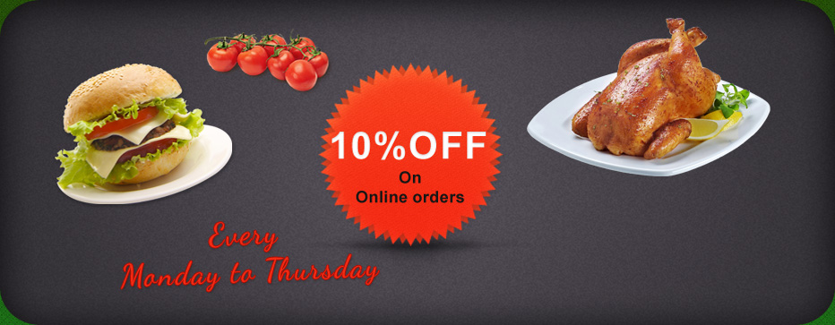 10% OFF On Online Order